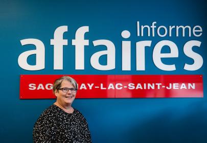La journaliste Dominique Savard (Photo : Informe Affaires)