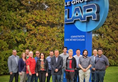 Une partie de l'équipe du Groupe LAR (Photo courtoisie)