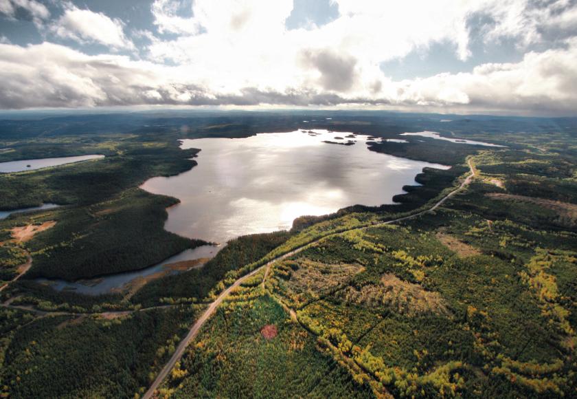 Vue aérienne du site du Lac-à-Paul