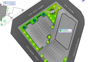 Voici le plan de l'intersection qui fut présenté aux médias en conférence de presse. (Photo: Courtoisie)
