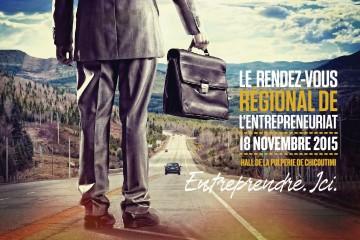 Voici l'affiche officielle du Rendez-vous régional de l'entrepreneuriat. (PHoto: Courtoisie)