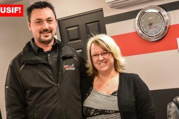 Sur la photo on retrouve Carl Harvey et Pascale Bergeron, copropriétaires du Garage Spécialités Importées à Saguenay. Photo: Jean-Luc Doumont)