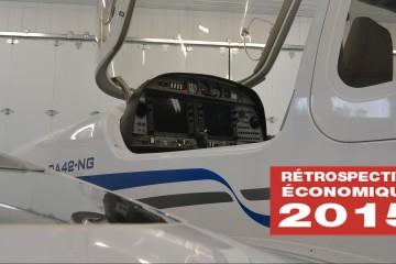 Un Diamond DA42 est actuellement en maintenance au sein de l'atelier de Harvey Aviation à Saint-Honoré.  (Photo: Jean-Luc Doumont)