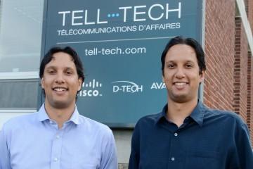 De gauche à droite: Tobi Guha, président de Télénet et Bhaskor Guha, vice-président. Photo: Courtoisie