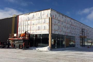 Le condo commercial devrait être livré d'ici fin février prochain. (Photo Guy Bouchard)