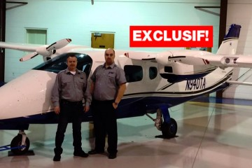 Enrick Fournier et Roger Bouchard, propriétaires de Composite Aviation. (Photo: Courtoisie Facebook)