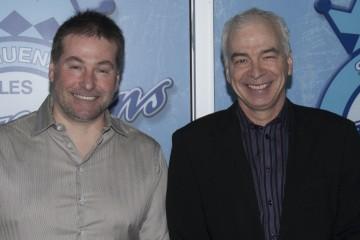 Dans l'ordre habituel, Jean-François Abraham et Richard Létourneau, deux entrepreneurs impliqués bénévolement dans le développement de la franchise des Saguenéens de Chicoutimi. (Photo Guy Bouchard)