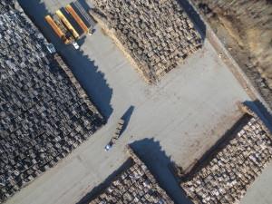 Voici un exemple concret avec la technologie du drone, soit le calcul de volume de billot de bois. (Photo: Courtoisie Flyterra)