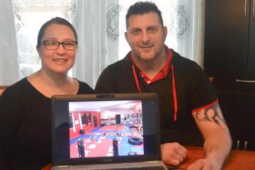 Marie-Ève Bouchard et Dany Dufour, propriétaires du Centre d'entraînement hockey 3D. (Photo: Jean-Luc Doumont)