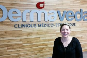 Chantale Tremblay, directrice générale de Dermaveda à Alma. (Photo : Courtoisie)