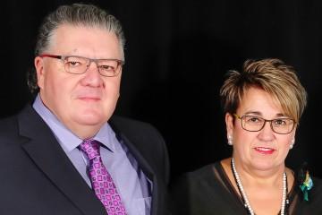 Les présidents d'honneur sont Charles Deslauriers et Lynda Noël Groupe LFL. (Photo: Jean-Luc Doumont)