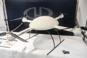 Le drone MD4-3000 de Flyterra était présent lors des Ateliers de travail. (Photo: Jean-Luc Doumont)