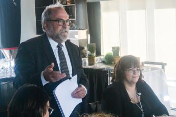 De gauche à droite: André Martel, président du conseil d'administration de SERDEX International et Nadine Brassard, directrice générale. (Photo: Jean-Luc Doumont)