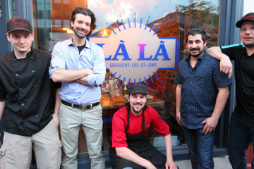 De gauche à droite: Vincent Jobin, Alexandre Gagnon, Jonathan Jobin, Sylvain Lortie et Alexandre Jobin. Photo : Courtoisie