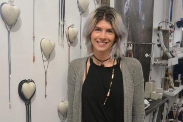 Valérie Arseneault, copropriétaire de la boutique La Fabrik. Photo : Jean-Luc Doumont