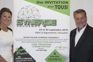 Dominic Marcil et Sylvie Gendron les cofondateurs du concept Synergie.  Les promoteurs se partagent respectivement la responsabilité du développement des affaires et la logistique de l'événement. (Photo Guy Bouchard)