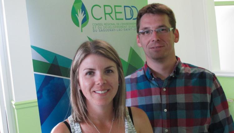 De gauche à droite: Andréanne Fortin, chargée de projet et Tommy Tremblay, directeur général du CREDD. (Photo: Jean-Luc Doumont)