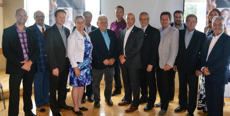 Voici la photo du conseil d'administration élu par les membres de la  Chambre de commerce et d'industrie Saguenay-Le Fjord. (Photo : Jean-Luc Doumont)