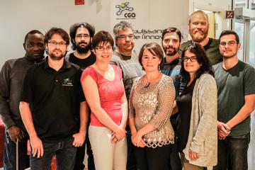 Voici l'équipe du Centre de géomatique du Québec. (Photo : Courtoisie)