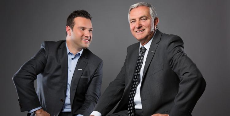 De gauche à droite, Pierre-Luc et son père, Raynald Martel. (Photo: Courtoisie)