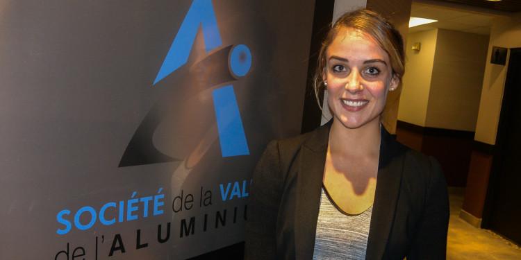 Malika Cherry, directrice du pôle de transformation de l' aluminium à la Société de la Vallée de l'Aluminium. (Photo : Jean-Luc Doumont)
