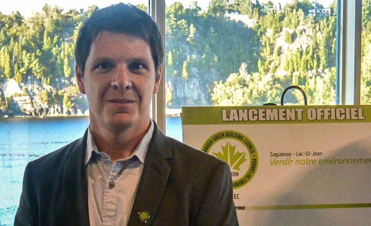Alexandre Bouchard, président du bureau à Saguenay pour le Conseil du bâtiment durable du Canada. Photo: Archives Jean-Luc Doumont