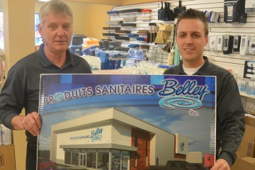 De gauche à droite, Réjean et son fils, François Belley, à la tête de l'entreprise depuis deux ans. (Photo: Jean-Luc Doumont)
