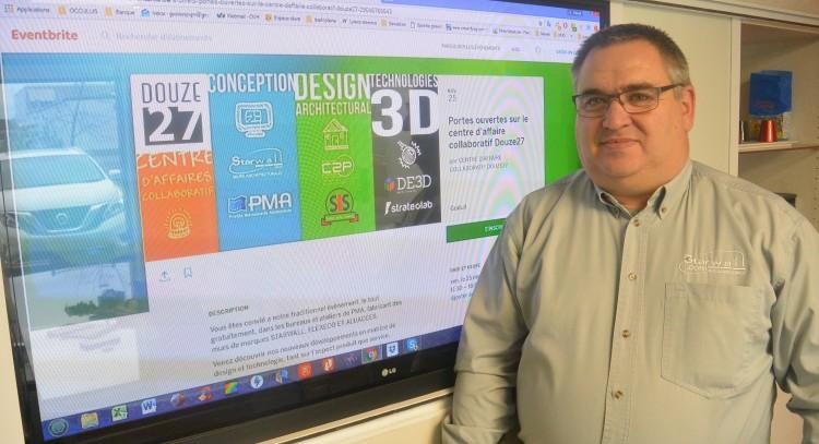 Pascal Mourgues, instigateur du projet «Douze 27» qui ouvrira ses portes à la fin novembre à Saguenay. (Photo: Jean-Luc Doumont)