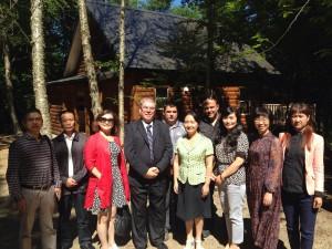 La délégation chinoise en visite au Québec en août dernier. (Courtoisie Produits Boréal)