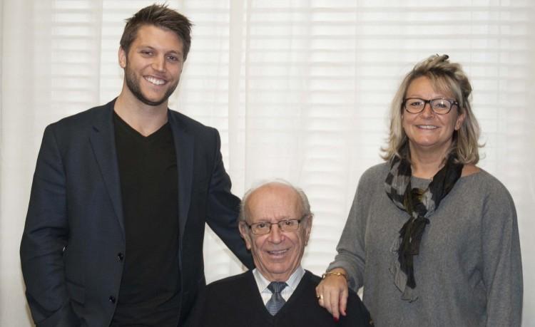 Les trois générations représentées ici : Le fondateur Jean-Claude Savard est entouré de sa fille Nathalie Savard, présidente et directrice générale de NORISKE et par son petit-fils Raphaël Côté, directeur du développement des affaires. (Photo Guy Bouchard)
