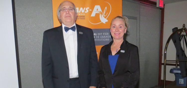 Jacques Caya, président du Réseau Trans-Al et Paulyne Cadieux, directrice générale de l'organisme d'envergure provinciale (Photo Guy Bouchard).