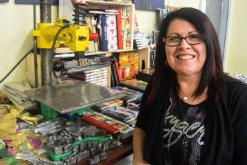 Nicole Desbiens, propriétaire de Reliure Jonquière. (Photo: Jean-Luc Doumont)