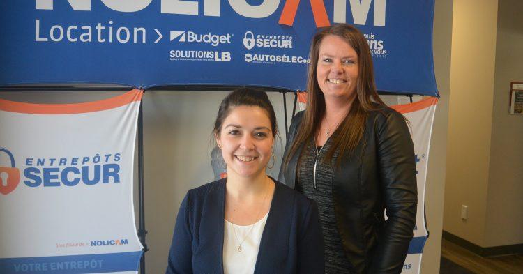 De gauche à droite: Catherine Fortin, conseillère en ressources humaines et Julie Bergeron, directrice des ressources humaines. (Photo: Jean-Luc Doumont)