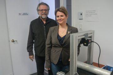 Roch Larouche et Valérie Larouche de NYX Dimensions. (Photo: Jean-Luc Doumont)