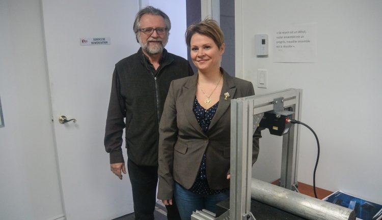Roch Larouche, fondateur de l'entreprise et Valérie Larouche PDG de NYX Dimensions. (Photo: Jean-Luc Doumont)