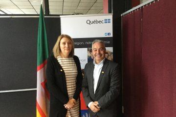 Brigitte Gagné, Coprésidente, présidente de la commission scolaire du Pays-des-Bleuets et François Gagné, Coprésident, ex-président de la Chambre de commerce et d'industrie Saguenay-Le Fjord;