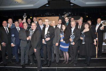 Les lauréats 2017 du gala  de la Chambre de commerce et d'industrie Saguenay-Le Fjord. (Photo Jonathan Thibeault)