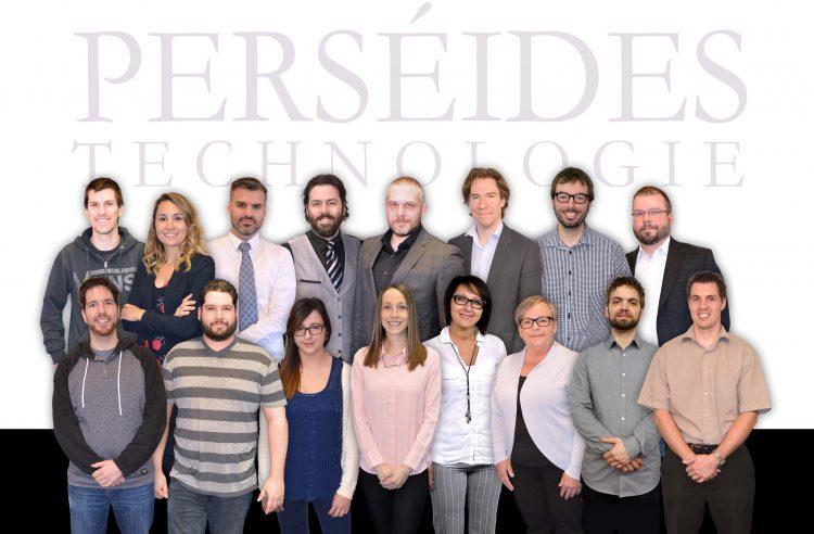 L'équipe de Perséides Technologie (Photo courtoisie)