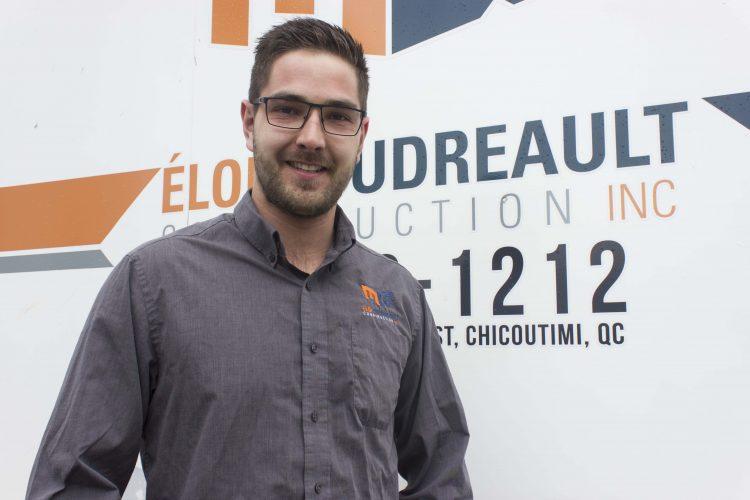 Éloi Boudreault entame sa troisième année à titre de directeur général d'Éloi Boudreault Construction. Sa priorité est d'offrir un service de qualité à sa clientèle. (Photo : Jonathan Thibeault)