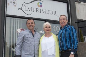 De gauche à droite, les coactionnaires de L'Imprimeur, Gaétan Vallée, Lynda Tremblay et Yves St-Gelais. (Photo Guy Bouchard)