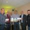 De gauche à droite : Rémi Turgeon, propriétaire de Lys Informatique, Réjean Tremblay, finaliste et lauréat, Michel Desmeules, président de la Corporation de développement de Métabetchouan–Lac-à-la-Croix, Monsieur Sylvain Lemay, Desjardins, Monsieur Stéphane Boivin, propriétaire de Cuit-Ziné-Moi