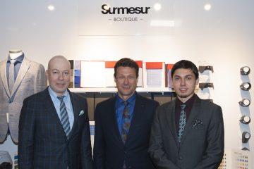 De gauche à droite, Fred Simard, conseiller; Roch Delisle, propriétaire et William Delisle, responsable du département du sur mesure, chez «Laflamme pour lui». (Photo Jonathan Thibeault)