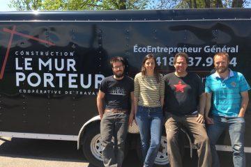 Les quatre membres fondateurs du Mur Porteur, Jérôme Boudreault, Geneviève Demers, Guillaume Dehaies et Jean-Michel Hébert. (Photo : courtoisie)