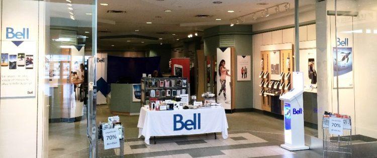 La boutique Bell du Centre Jonquière est en cours de rénovations. Pendant ces travaux, les clients sont dirigés vers un local temporaire. (Photo : courtoisie)