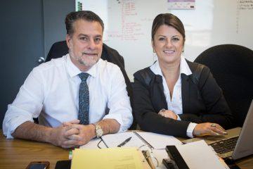 Les promoteurs de Synergie-foire commerciale, Dominic Marcil et Sylvie Gendron. (Photo : courtoisie)