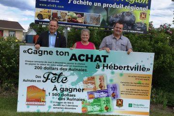 De mai à juin, toute personne ayant contribué à l'économie hébertvilloise est éligible au concours hebdomadaire visant à gagner son achat. (Photo : courtoisie)