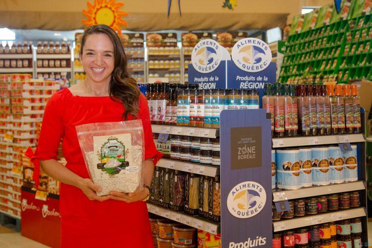 Virginie Lepage de la Ferme Olofée de Saint-Félicien est finaliste au concours Tournez-vous vers l'excellence de la Financière Agricole (Photo : courtoisie)