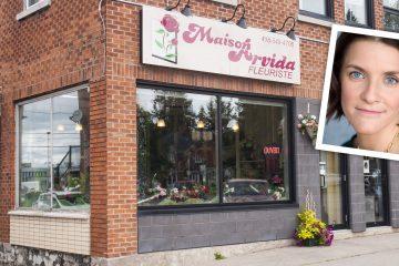 Mélissa Gauthier assure la relève du fleuriste présent dans le décor arvidien depuis 1950. (Photomontage : Jonathan Thibeault)